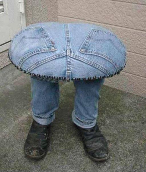Seat, recycled denim