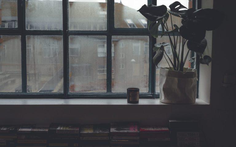 the hype on hygge, dreary window