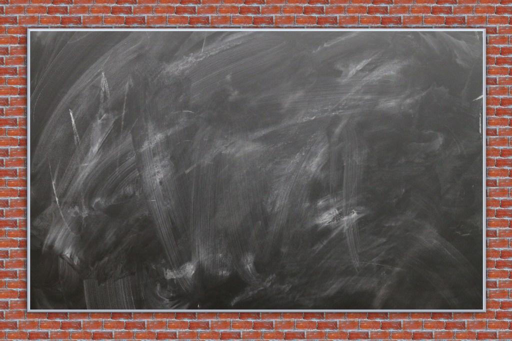 Backyard. chalk board