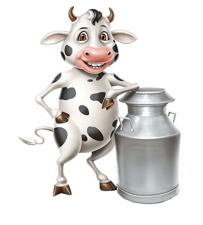 Dairy cow, milk