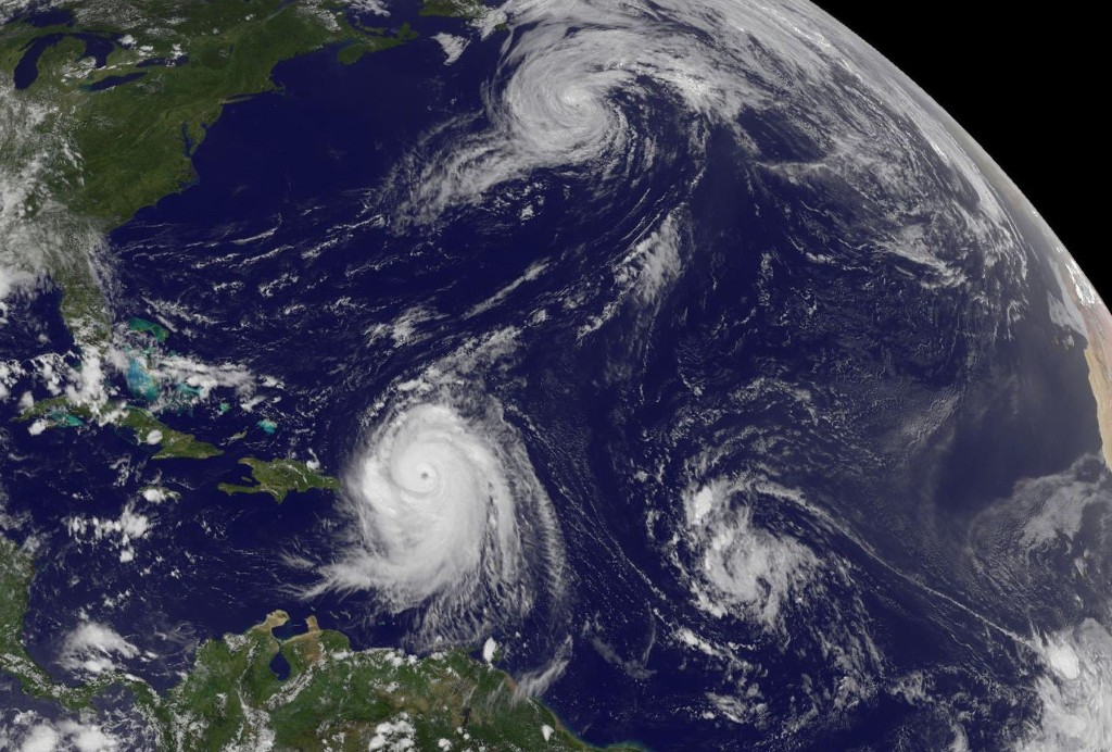 Hurricanes, satelite image