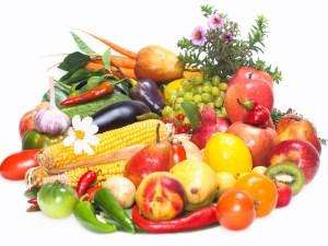 Fresh Fruit and Veggie basket -- The Hot Mess Press