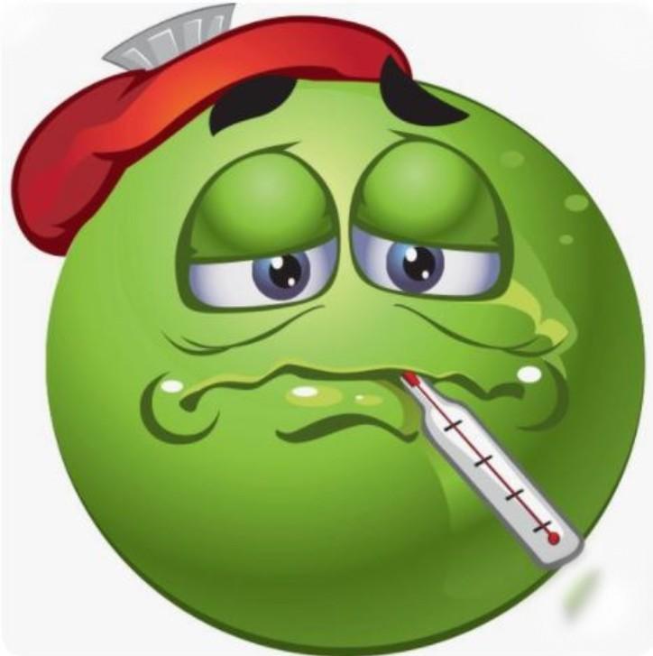 Emoji, ill, fever
