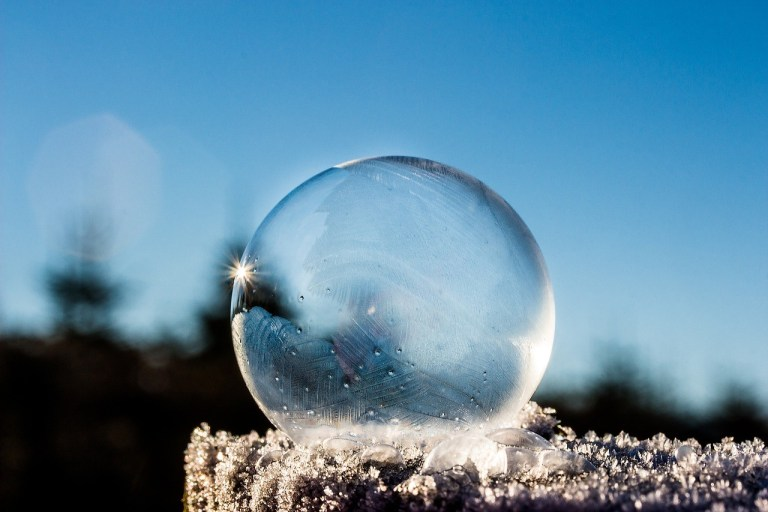Winter awe frozen bubble The Hot Mess Press