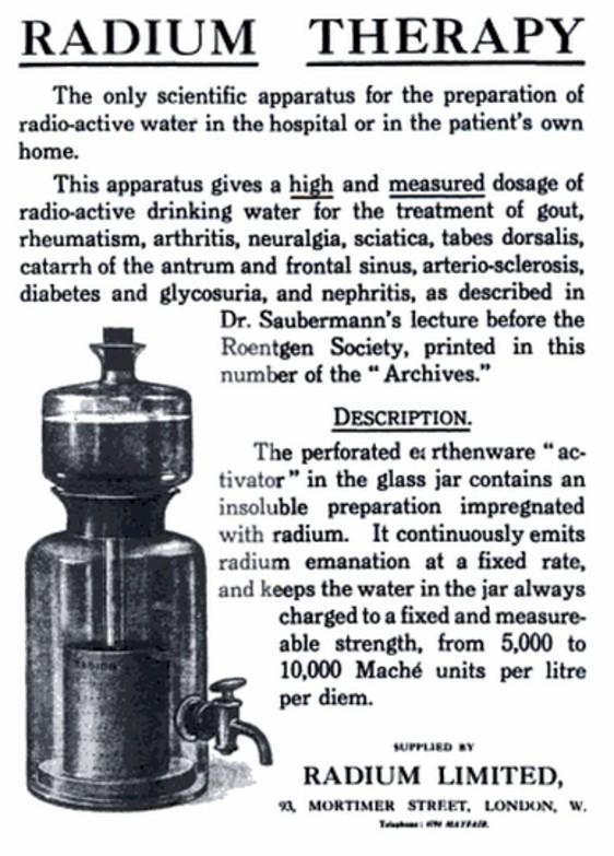 Radium Medical Treatment