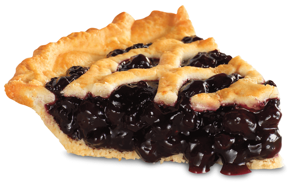 Substitute Pecan with blueberry pie