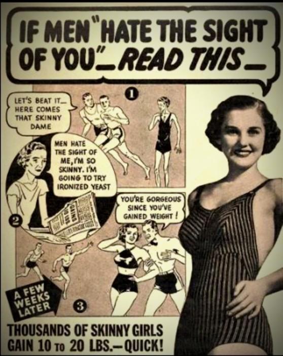 Anti-skinny advertisement