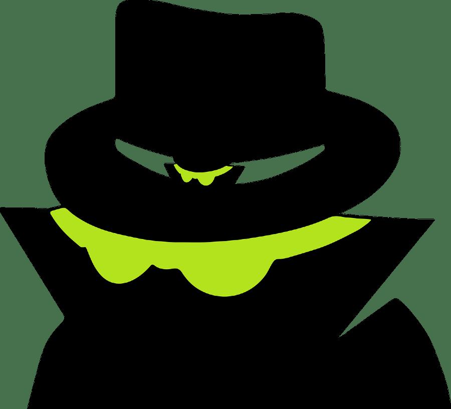 Fraud suspicious looking person