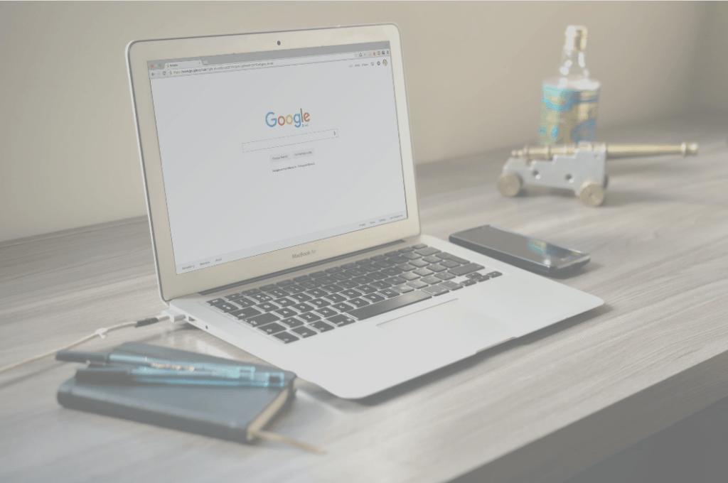 computer showing Google logo