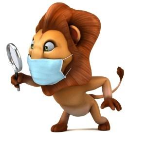 Social distancing lion -- The Hot Mess Press