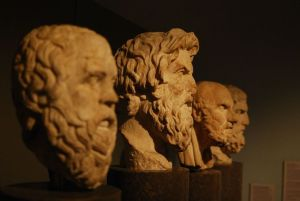 life habits, busts of philosophers