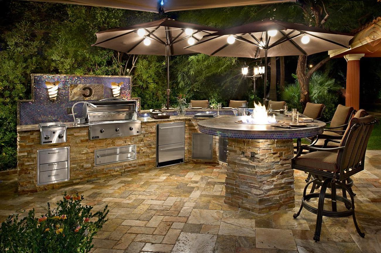 Outdoor Kitchens - The Hot Tub Factory - Long Island Hot Tubs on Backyard Patio Grill Island id=58471
