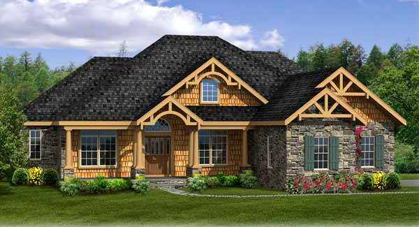 Craftsman House Plan With Walk-out Basement