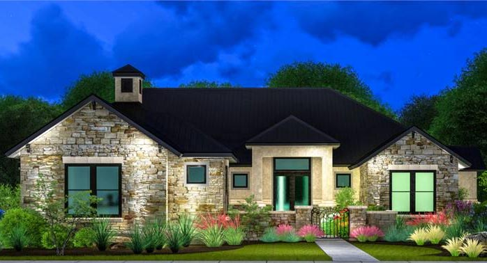Traditional One-story House Plan