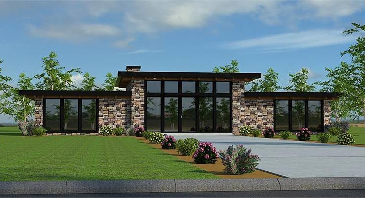 Modern Two-bedroom House Plan