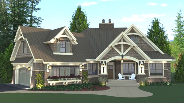 Three-bedroom Cottage House Plan