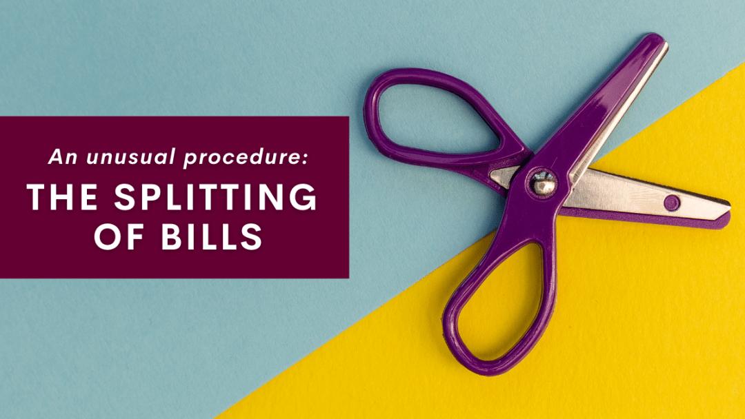 An unusual procedure: the splitting of bills