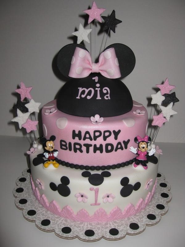 Mia S Minnie Mouse 1st Birthday Cake