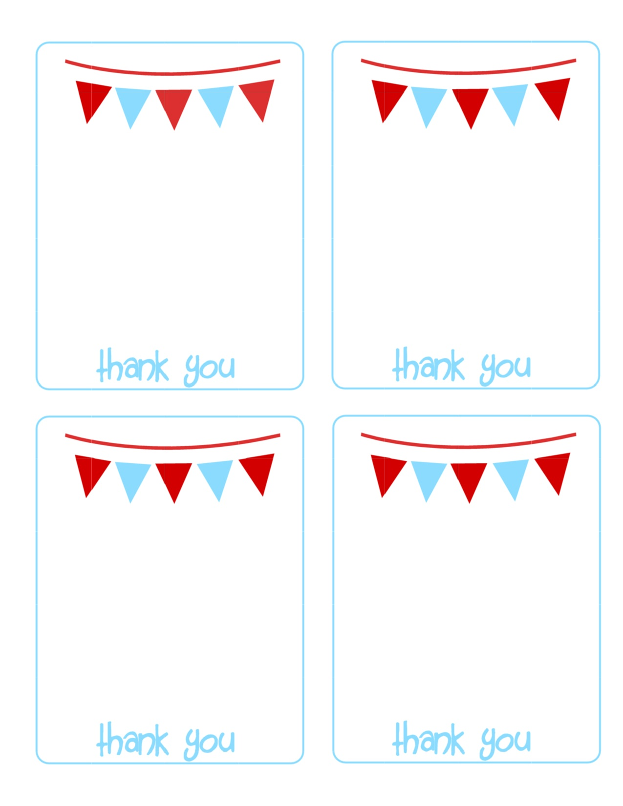 It is a photo of Wild Free Printable Thank You Cards for Kids
