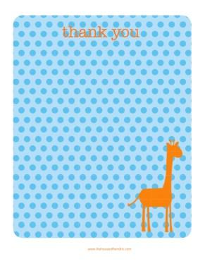 giraffe thank you BIG