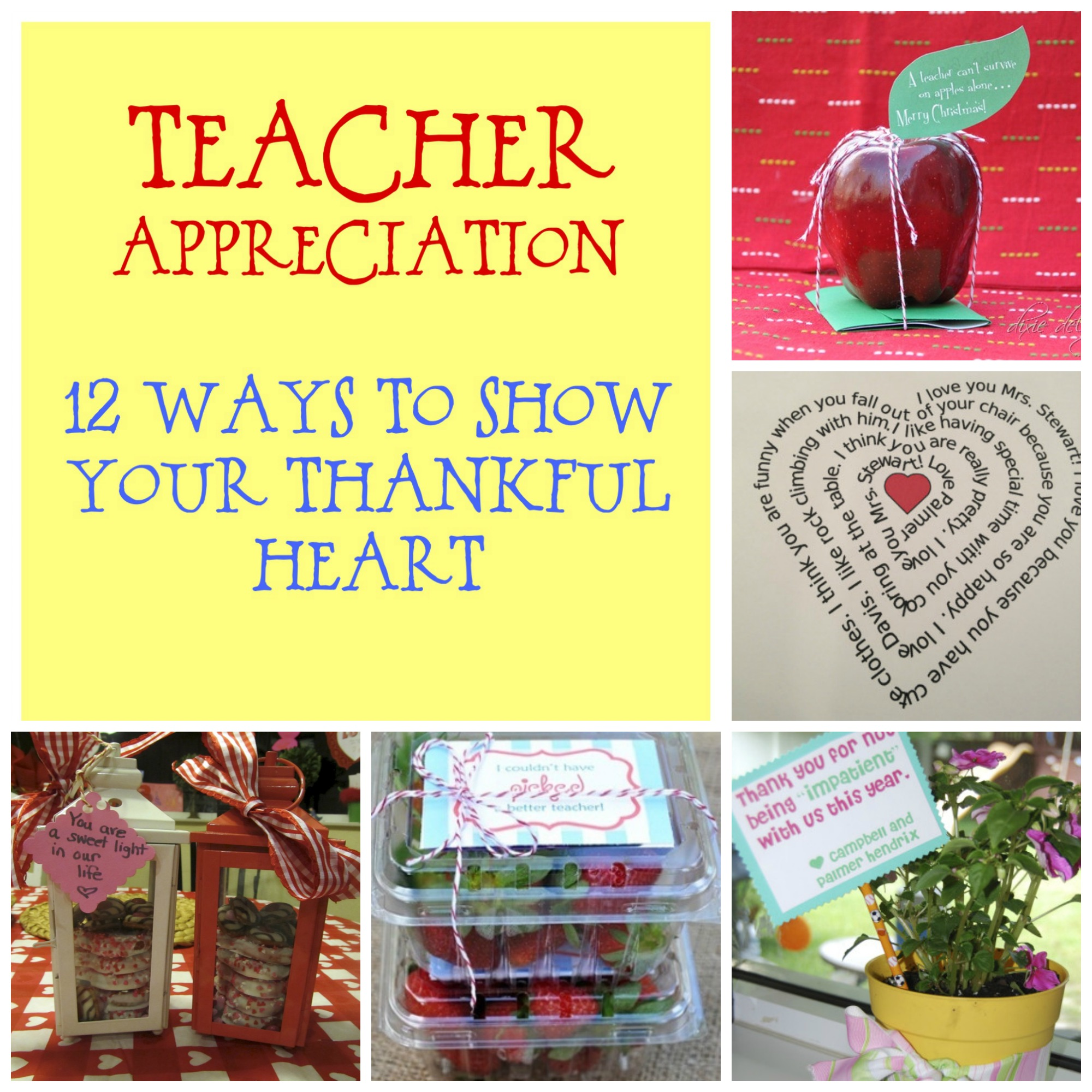 Classroom Keepsake Ideas ~ Teacher appreciation ideas
