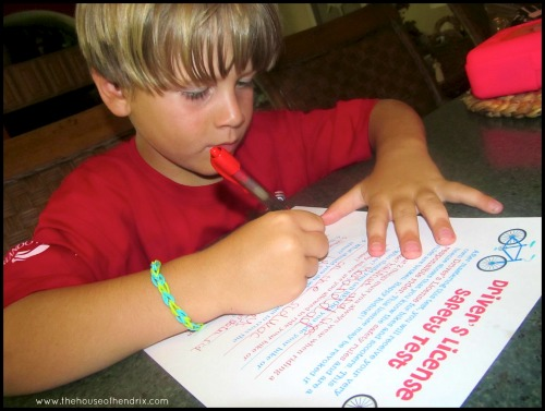"""Kid's Driver's License and Test - Your child takes a simple """"driver's safety test"""" and then receives their own printable Driver's License. Great way to teach responsibility. [the House of Hendrix}"""