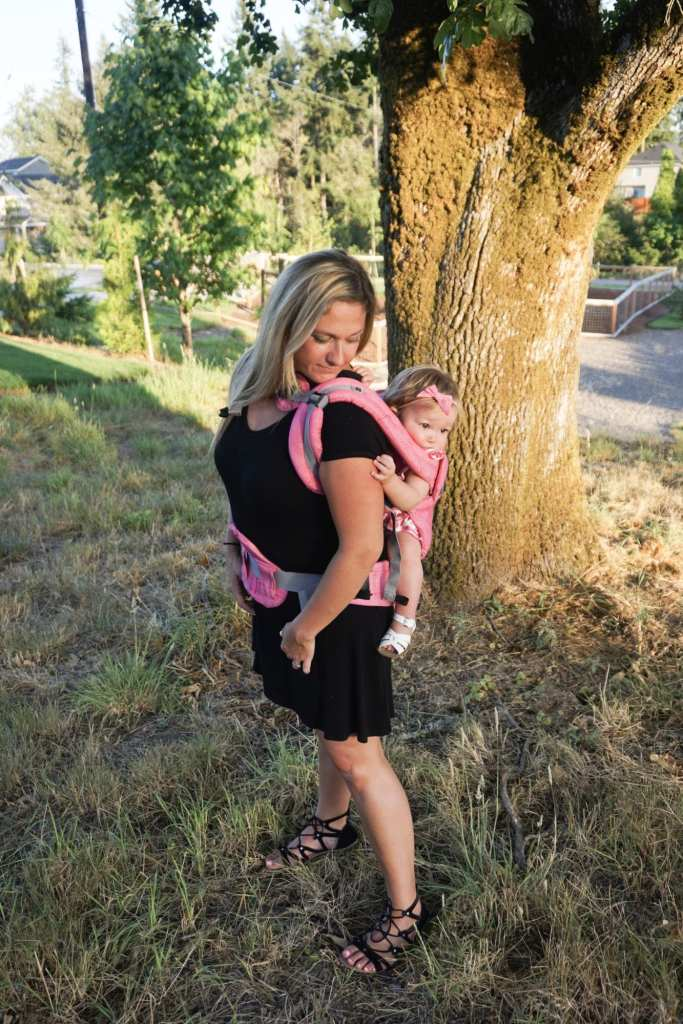 baby wearing, baby carrier, lillebaby, baby girl