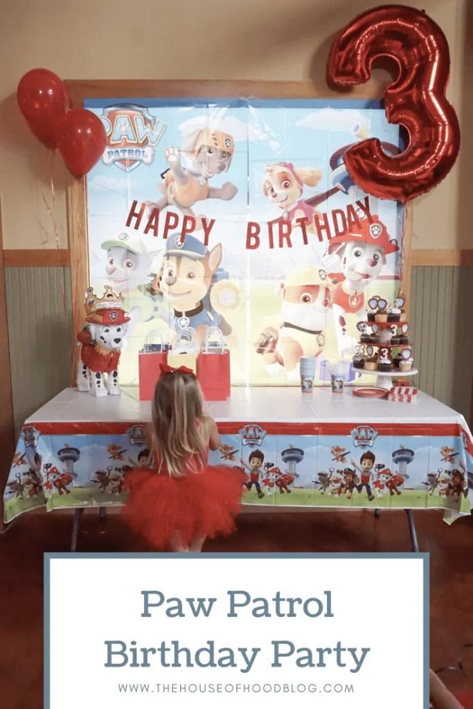 Paw Patrol Birthday Party, toddler birthday party, themed party, girl birthday party