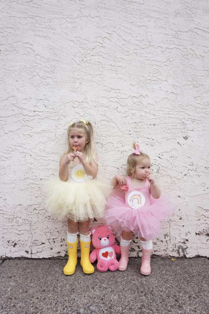 Plum NYC Tutus, DIY Halloween Costumes, care bears, toddler hunter boots, toddler style, Halloween, toddler fashion, toddler girl