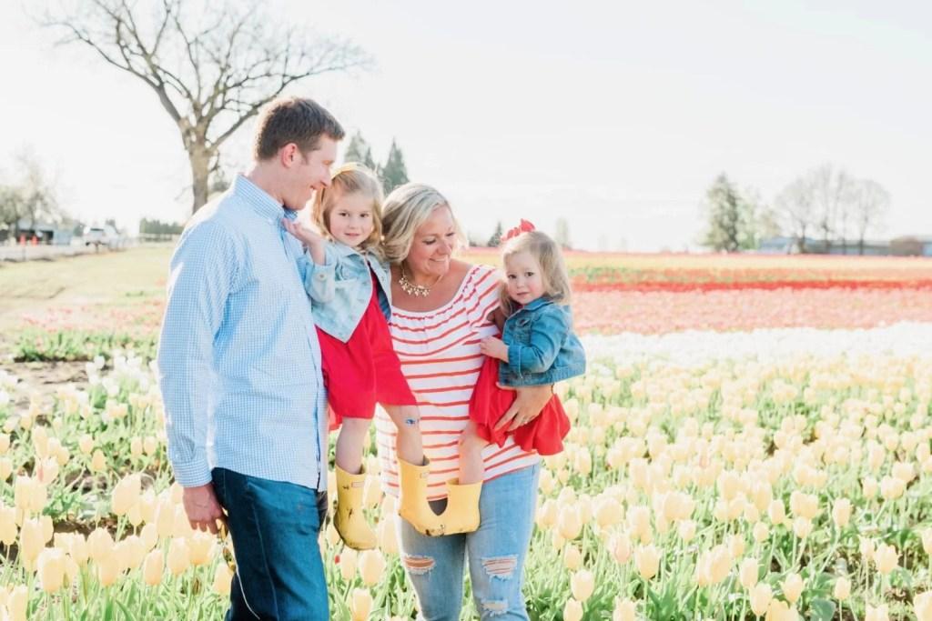 Tulip field family photos
