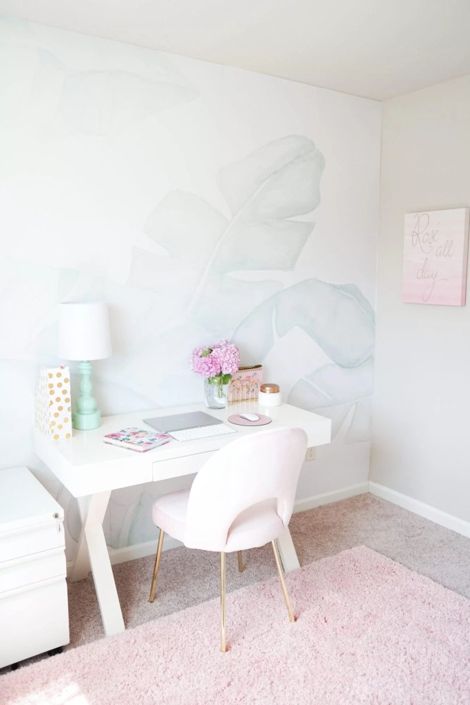 Blush Mint And Gold Office Update The House Of Hood Blog