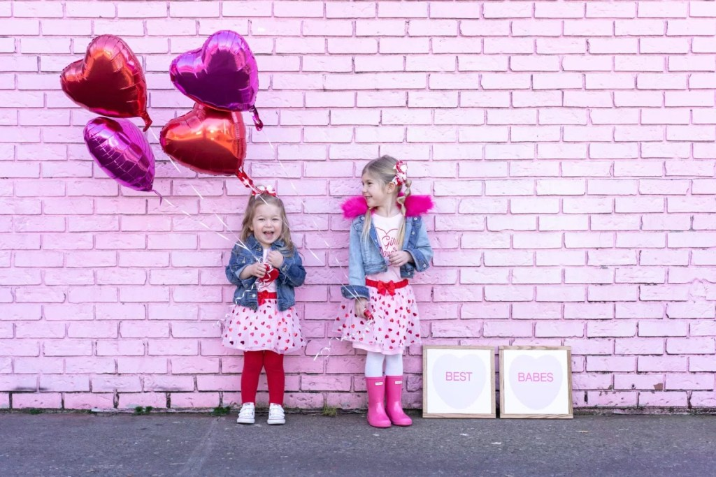 af073a300 Bright and Fun Valentine s Day Outfit Ideas for Toddler Girls - The ...