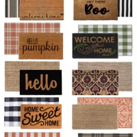 Front Porch Door Mat Layering Ideas for Fall