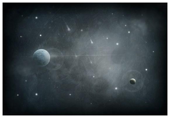 """LOVERS LOST IN SPACE"" by Mia Makila - digital"