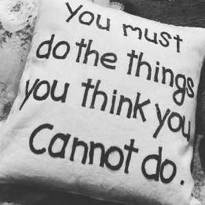 Taking advice from a pillow.