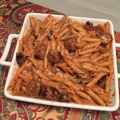 Spicy Sausage One Pot Pasta
