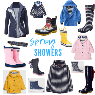 Preppy Rainy Day Style for Women and Kids