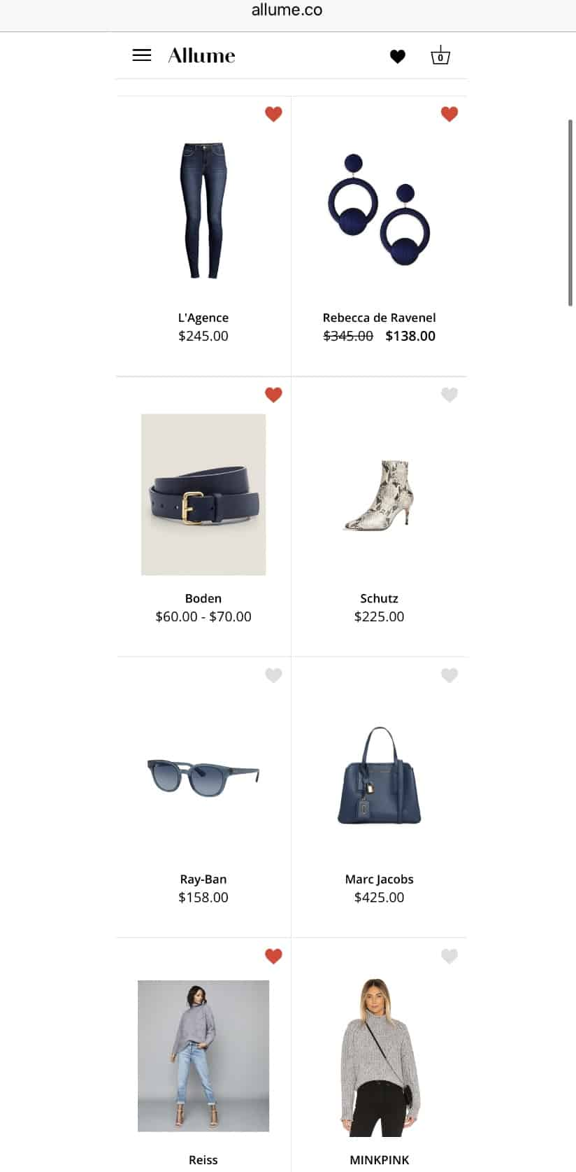 Allume Style Service Review + Promo Code featured by top MI life and style blogger, The House of Navy: image of shopping images from lookbook