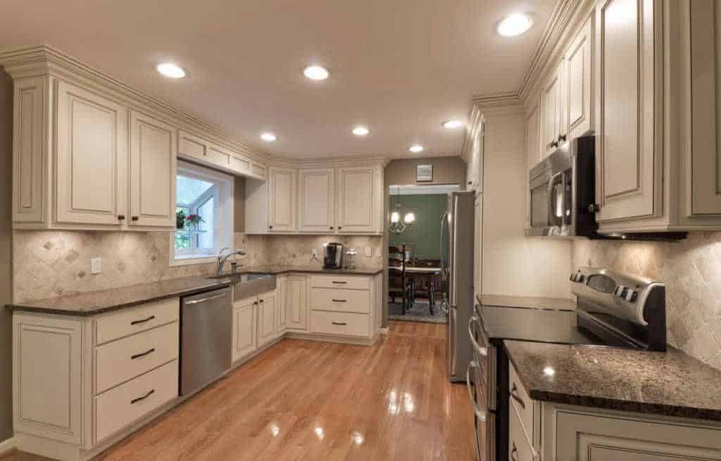 Home Buying with MSHDA info featured by top Michigan lifestyle blog, House of Navy: image of a white kitchen