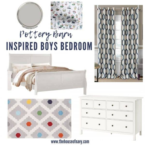 Pottery Barn Boys Bedroom Ideas featured by top MI lifestyle blogger, The House of Navy