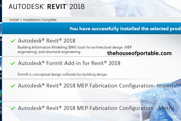 revit 2018 portable core products