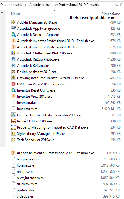 inventor professional 2019 portable files