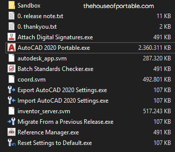autocad 2020 portable files