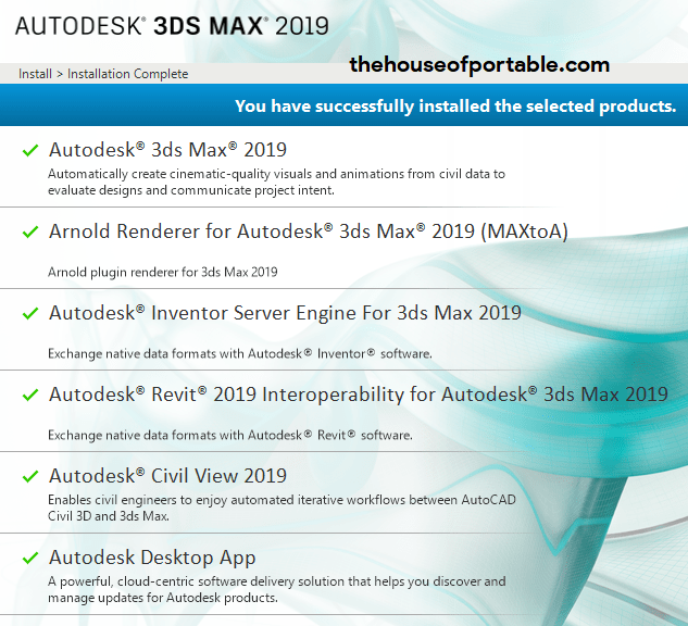 Autodesk 3ds Max 2019-2020 Portable +V-Ray Next 4 10 - The House of