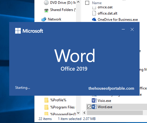 microsoft word 2019 portable