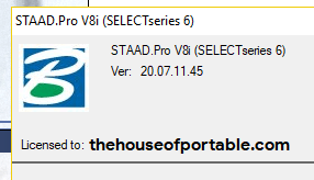 staad pro v8i ss6 portable about