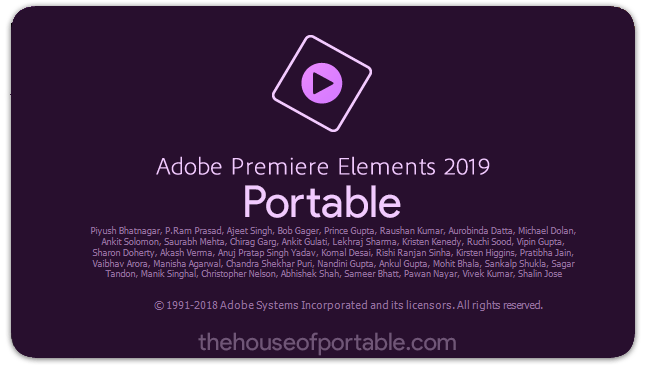 adobe premiere elements 2019 portable