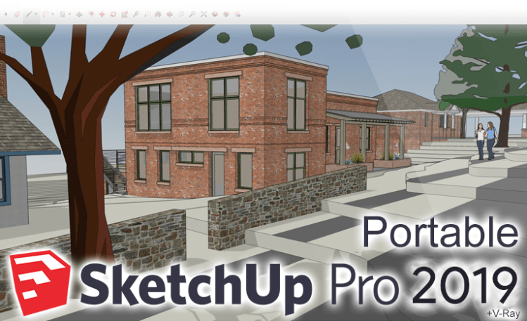sketchup pro 2019 portable vray next crack
