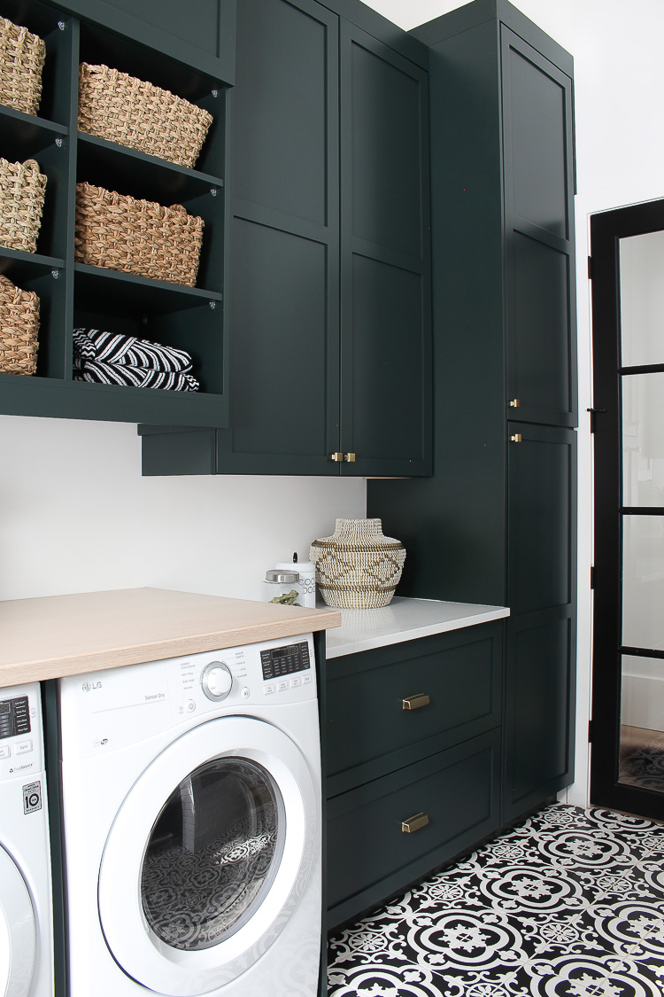 The Laundry/Dog Room: Dark Green Cabinets Layered On ... on Laundry Room Cabinets  id=23312