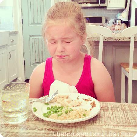 I hate veggies face